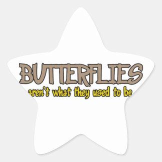 Schmetterlinge sind nicht, was sie verwendeten, um stickers