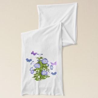 Schmetterlinge und Bell-Blumen Schal