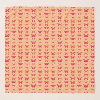 Schmetterlinge, weich Orange, korallenrotes Rosa, Schal