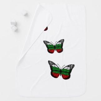 Schmetterlings-Bulgare-Flagge Baby-Decken