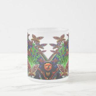 Schmetterlings-Frauen-Blumen-Vasen-Set Mattglastasse