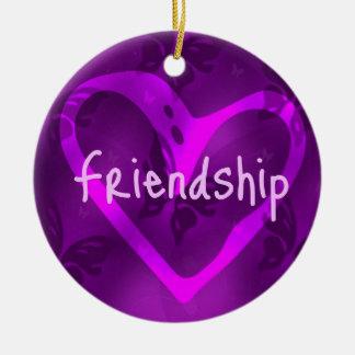 Schmetterlings-Freundschafts-Verzierung Rundes Keramik Ornament