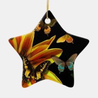 Schmetterlings-Gärten Keramik Ornament