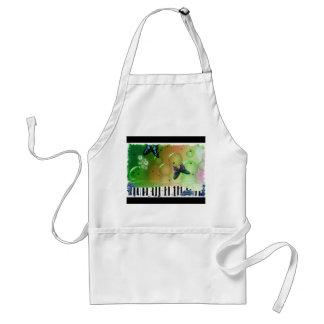 Schmetterlings-Klavier-Schlüssel Schürze