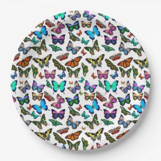 Schmetterlings-reichlich PapierTeller