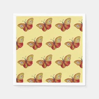 Schmetterlings-stilvolle Sommer-Servietten Papierservietten