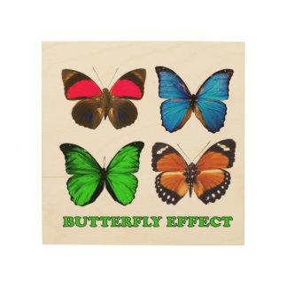 Schmetterlingseffekt Holzleinwand