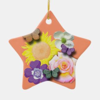 Schmetterlingstreffpunkt Keramik Ornament