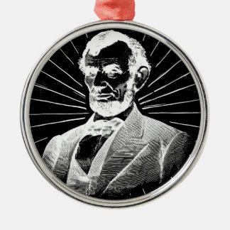 Schmutz Abraham Lincoln Silbernes Ornament