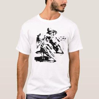Schmutz-Fahrrad, das T - Shirt läuft