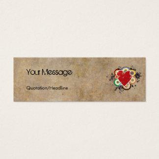 Schmutz-Herz mit Ringen Mini Visitenkarte
