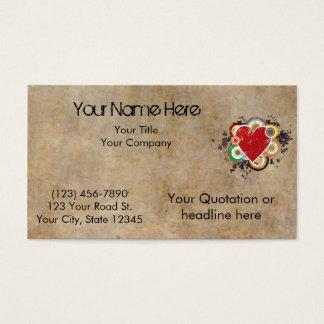 Schmutz-Herz mit Ringen Visitenkarte