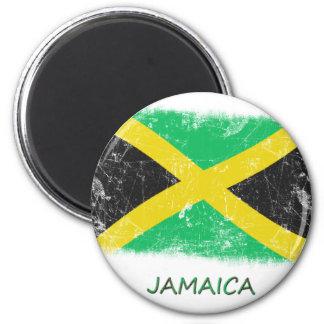 Schmutz-Jamaika-Flagge Runder Magnet 5,7 Cm