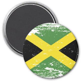 Schmutz-Jamaika-Flagge Runder Magnet 7,6 Cm