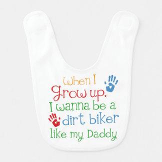 Schmutz-Radfahrer handprints Baby-Geschenk Lätzchen