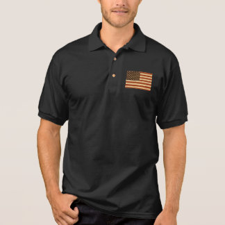 Schmutz-Retro amerikanische Flagge Polo Shirt