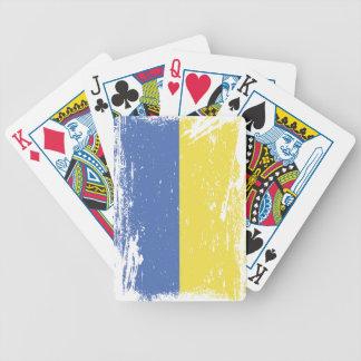 Schmutz-Ukraine-Flagge Bicycle Spielkarten