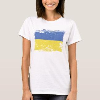 Schmutz-Ukraine-Flagge T-Shirt
