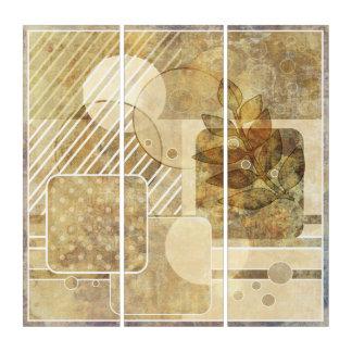 Schmutz. Vintag. Abstrakte Illustration Triptychon