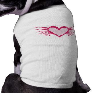 Schmutz Winged Herz-Haustier-Kleid Top