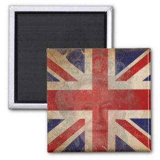 Schmutziger BRITISCHER Flaggen-Magnet mit Königin  Kühlschrankmagnet