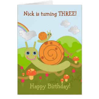 Schnecken, die alles Gute zum Geburtstag wünschen! Grußkarte