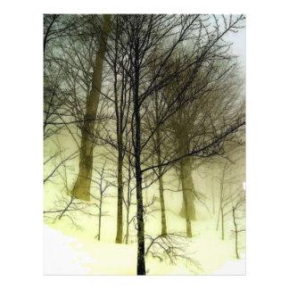 Schnee bedeckte Baum-Flyer Flyer