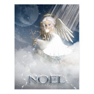 Schnee-Engels-Postkarte - WEIHNACHTEN Postkarte