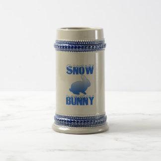 Schnee-Häschen Bierglas