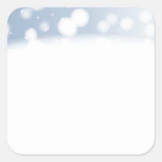 Schnee-Kopien-Raum Quadratischer Aufkleber