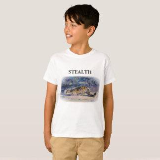 Schnee-Leopard HEIMLICHKEIT T-Shirt