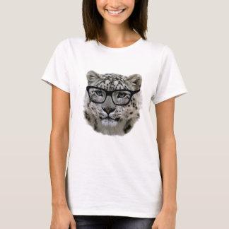 Schnee-Leopard mit Schauspielen! T-Shirt