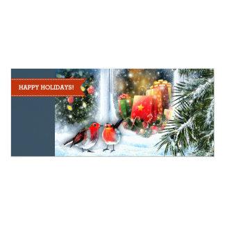 Schnee-Szenen-Malerei-Weihnachtsgruß-Karten 10,2 X 23,5 Cm Einladungskarte