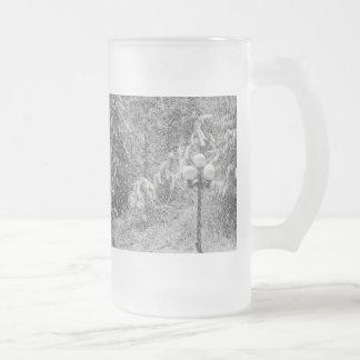 Schnee-Tag Mattglas Bierglas