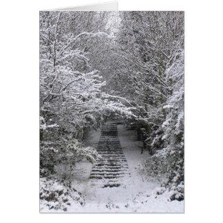 Schnee tritt Weihnachtskarte Karte