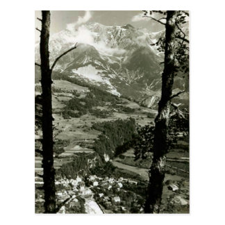 Schneebedeckte Berge Tirols Postkarte