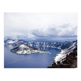 Schneebedeckte Insel Postkarte