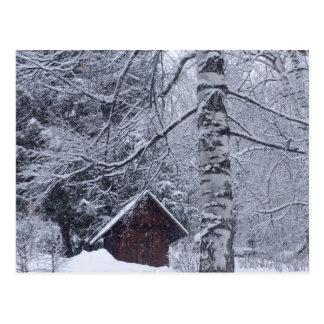 schneebedeckte Landschaft Postkarte