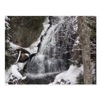 schneebedeckte moutains postkarte
