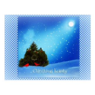 Schneebedeckte Szenenpostkarte der Postkarte