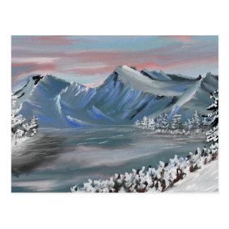 schneebedecktes Feld Postkarte