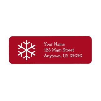 Schneeflocke-Adressen-Etikett D (Burgunder)