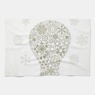 Schneeflocke eine Birne Handtuch