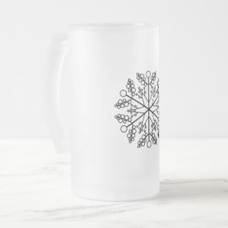 Schneeflocke-Feiertags-Verzierung Mattglas Bierglas