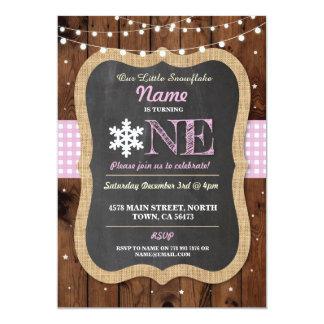 Schneeflocke-laden erstes Geburtstags-Party ein Karte