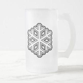 Schneeflocke Mattglas Bierglas