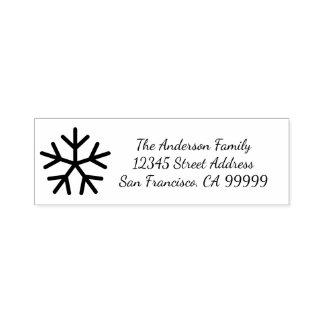 Schneeflocke - Selbst, der Adressen-Briefmarke mit Permastempel