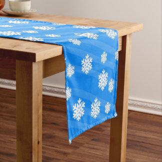 Schneeflocke-Tabellen-Läuferdekor Kurzer Tischläufer