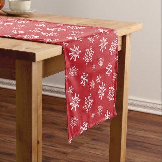 Schneeflocke-Weihnachtsmuster Kurzer Tischläufer