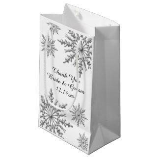 Schneeflocke-Winter-Hochzeit danken Ihnen Kleine Geschenktüte